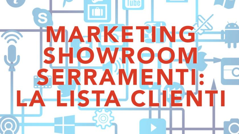 Marketing showroom serramenti